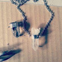 #quartz #crystals #pendant #enhydro