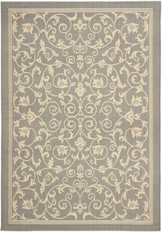Traditional grey rug
