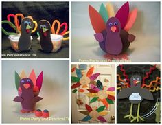 My favorite Turkey crafts from Thanksgiving past. #turkeycrafts #Thanksgiving