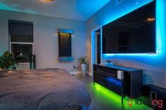 7 Ideas to Use Philips Hue Lightstrips 2019 is part of Hue philips - Transform your home to look gorgeous with Philips Hue Lights See our 7 ideas on how to transform your home into something bright and colorful Living Room Lighting, Bedroom Lighting, Home Lighting, Bedroom Decor, Lighting Ideas, Lighting Design, Home Automation System, Smart Home Automation, Lights Behind Tv