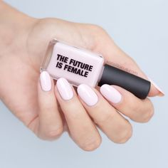 Happy International Women's Day!!! feat. The Future Is Female light pink nail polish