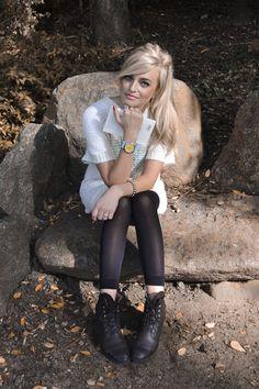 #Stilkompass Strick mit Fornarina Kleid und Pop Pilot Uhr