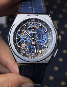 PuristSPro - Today s presentation is about the version of the Zenith Defy El Primero 21 which is - to my eyes at least - the most attractive one: titanium with a blue m