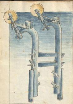 Bellifortis VerfasserKyeser, Conradus  ErschienenElsaß, [um 1460] Ms. germ. qu. 15  Folio 4r