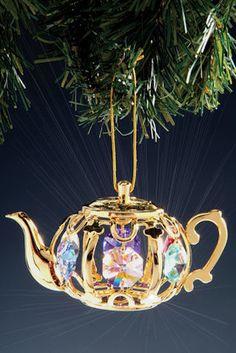 Teacup Tea Cup Ornaments Victorian Egyptian Glass Crystal Porcelain Teapot Tea Pot Ornaments Ornament Trees
