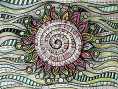 Transcend Tangle Doodle, Tangle Art, Doodles Zentangles, Zen Doodle, Zentangle Patterns, Doodle Art, Doodle Inspiration, Sun Art, Doodle Drawings
