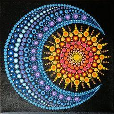 """Mandala Art / Gold Mandala / Wall Art / Flower Mandala / Meditation Icon / Handmade by Adi / """", Mandala Art Lesson, Mandala Artwork, Mandala Painting, Stone Art Painting, Dot Art Painting, Mandala Painted Rocks, Mandala Rocks, Rock Painting Patterns, Rock Painting Designs"""