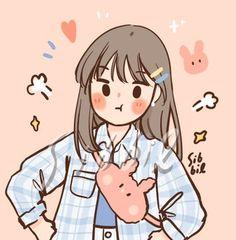 Cute Little Drawings, Cute Cartoon Drawings, Cartoon Girl Drawing, Cartoon Art Styles, Kawaii Drawings, Girl Cartoon, Cute Anime Wallpaper, Cute Cartoon Wallpapers, Animes Wallpapers