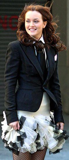 Gossip Girl.. Tie with ruffles <3