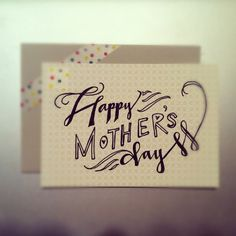 Mother's Day hand lettering