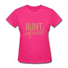 PINK GLITZ PRINT! Aunt Squad, Pregnancy Reveal Shirt, Women's T-Shirt
