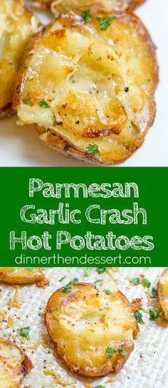 Parmesan Garlic Crash Hot Potatoes are crispy, creamy, cheesy and garlicky. Made…