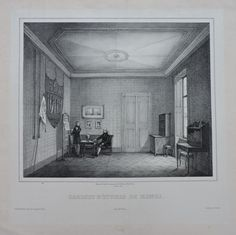 Lithograph by François Courtin (active between 1830 and after a drawing by A. Tridon, representing Henri d Slovenia, Prague, Castle, Study, Drawings, Chambord, Grandchildren, Painting, United Kingdom