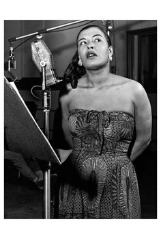 Billie Holiday, early 1950s - Photo Phil Stern                                                                                                                                                                                 More