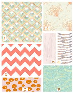Pattern mashup and pretty color palette.