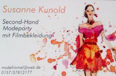 Susanne Kunold, Second-Hand-Mode aus Film und Fernsehen, auf Events wie Leckerer Laufsteg bei Schlemmerherz oder am Heuchelheimer See oder auch privat zu Geburtstagsfeiern