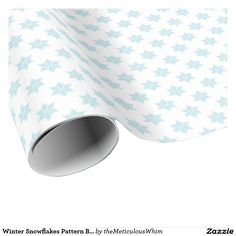 Winter Snowflakes Pattern Blue Holiday Design Wrapping Paper