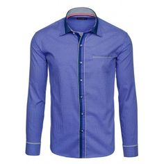 Pánske vzorované košele modrej farby - fashionday.eu Shirt Dress, Mens Tops, Shirts, Dresses, Fashion, Vestidos, Moda, Shirtdress, Fashion Styles