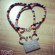 Beaded Fine Silver Lotus Soul Lock Necklace via TGXC. Click on the image to see more!