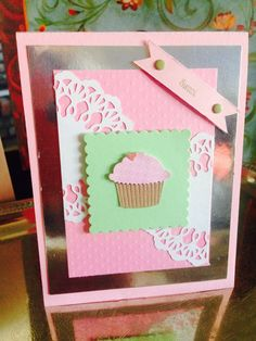 Birthday cupcake greeting card by Viviansgreetings on Etsy.com sold