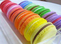 #MelissaRainbow #rainbow #macarons #candy