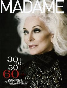 carmen dell'orefice - Google Search; Model since age 14-born in 1931-now aged 81. We should all have her bone structure!