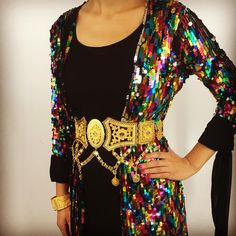 Stunning Kurdish Dress - love the Belt and the Rainbow Colours.