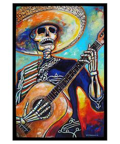 El Feliz Mariachi Muerto William A. Wiggins III Fine Art Paintings
