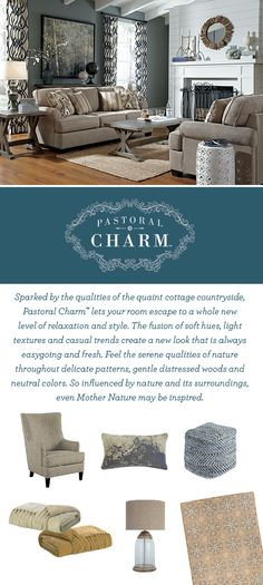 Now Introducing Pastoral Charm™ - Relaxed and fresh furniture style - Living Room Furniture - Ashley Furniture