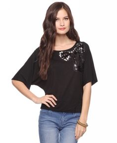 Sequin Bow Top