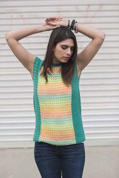 Opaline Top Crochet Pattern | InterweaveStore.com