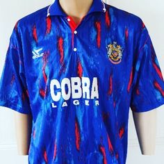 1991-92 Stockport County Home Shirt XL 19.99 - quality shirt from @topcornershirts get yours #footballshirtcollective #stockportcounty