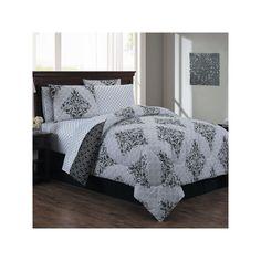 Avondale Manor 8-piece Mari Comforter Set, Black