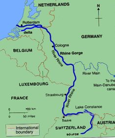 Rhine river map of germany - Google Search