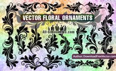 Vector Floral Ornaments - All-Silhouettes.com