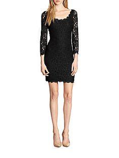 Diane von Furstenberg Zarita Lace Scoopneck Dress