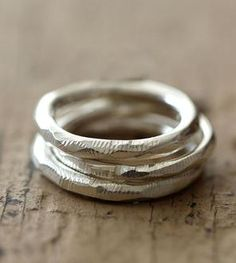 Recycled Sterling Silver Stacking Rings – Set of 3