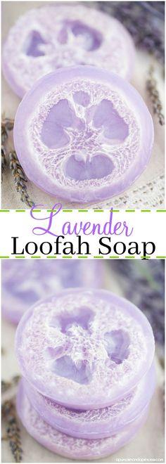 DIY Lavender Loofah
