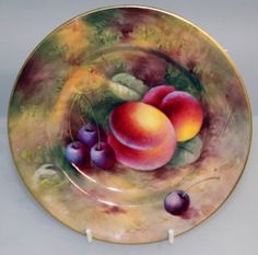 Royal Worcester Fruit Plate Hand Painted by Peter Love | Royal ...