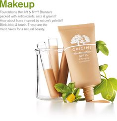 Origins: Good makeup without the toxic chemicals. Color Me Beautiful, Going Natural, Knowledge Is Power, No Foundation Makeup, Breast Cancer, Best Makeup Products, Anti Aging, Organic, The Originals