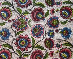 Vintage decorating fabric  Traditional floral by JanesVintageToo, $5.00