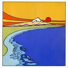 """2 Peter Max """"Zen highest mountain"""" Pop Art prints and LIBERTY both 7 by 7 great… Kunst Inspo, Art Inspo, Aesthetic Painting, Aesthetic Art, Peter Max Art, 2 Peter, Henna Tatoo, Hippie Painting, Small Canvas Art"""