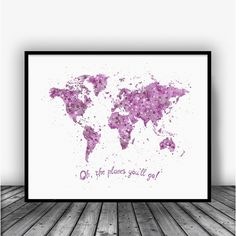 Oh the places, you'll go, Pink Art Print Poster by Carma Zoe From $10.00