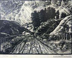 e mervyn taylor artist - Google Search Nz Art, Printmaking, Coast, Landscape, Google Search, Illustration, Artwork, Painting, Artists