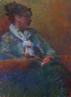 Listening by Julie Skoda Pastel ~ 16 x 12