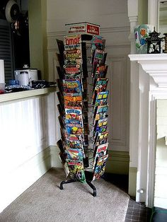 Our comic book rack in the living room | animusicsf | Flickr