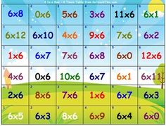 Multiplication Games - Bump - Two Times Table to Twelve Times ...