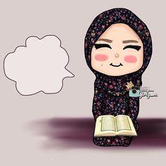 . Hijab Drawing, Girly M, Anime Muslim, Cute Love Cartoons, Islamic Wallpaper, Islamic Pictures, Cute Gif, Girl Cartoon, Girl Humor