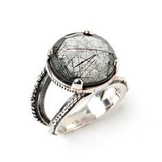Rutilated Quartz Rope Ring now featured on Fab.