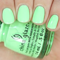 China Glaze Lime After Lime | Summer 2016 Lite Brites Collection | Peachy Polish